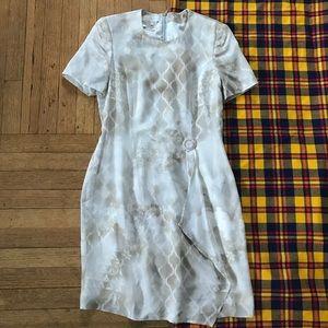 Escada Silk Vintage Asymmetrical Hem Dress